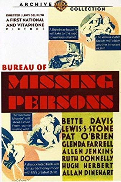 OS DESAPARECIDOS (Bureau of Missing Persons, 1933)