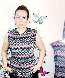 Women's blouse plisse fabric