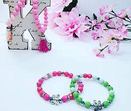 Acrylic bracelets with charms