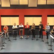 Fontys Saxophone Ensemble rehearsal