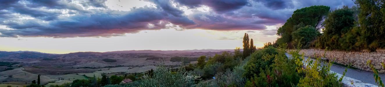 Beautiful Pienza Sunset