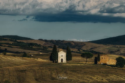 Val D' Orcia church view