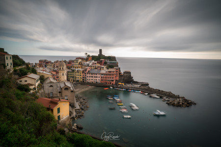Vernazza with cloudy skies