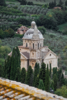 Chiesa di San Biagio view from Montepulciano Town