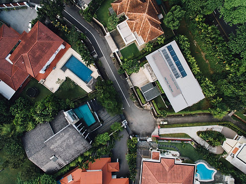 Aerial View of Luxurious Homes