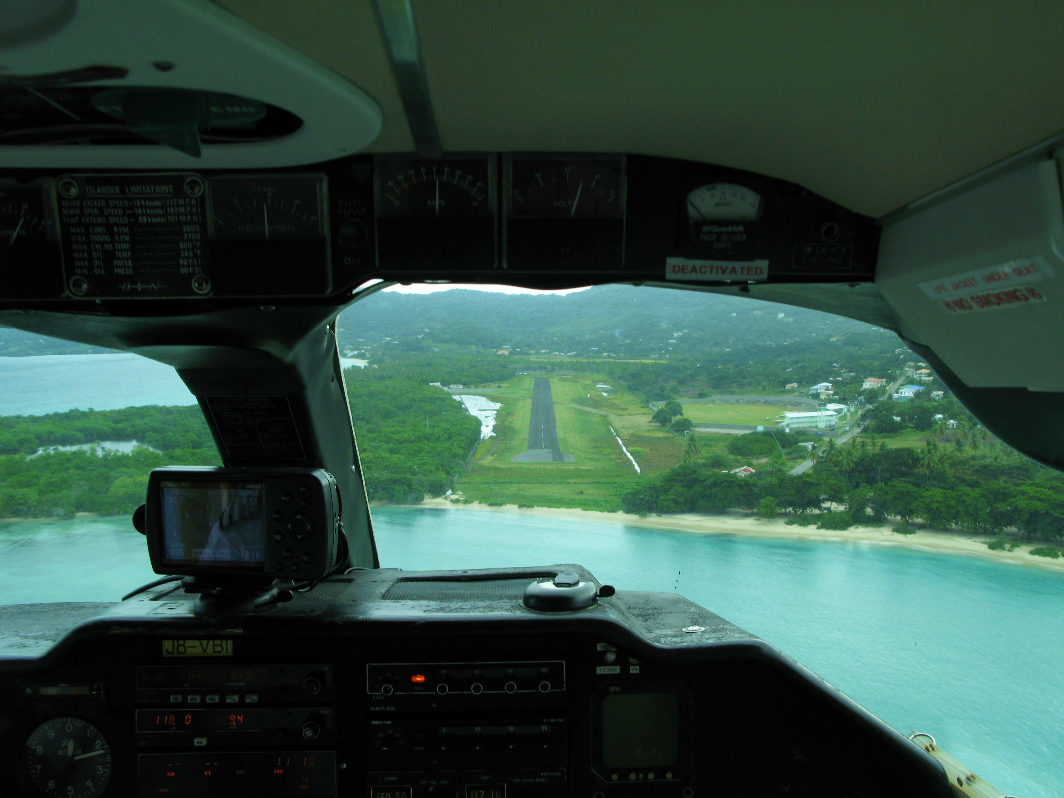 landing in carriacou