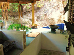 in the outdoor kitchen