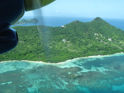 aerial view, carriacou