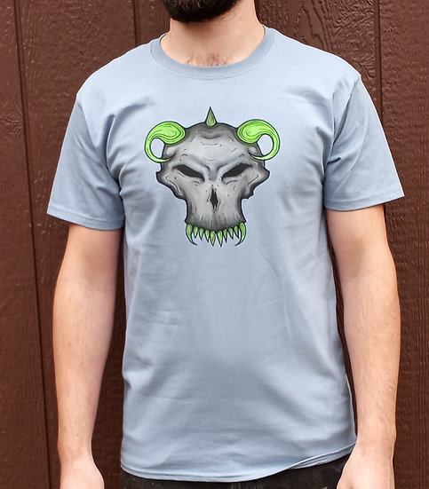 Skull and Horns Medium T-Shirt