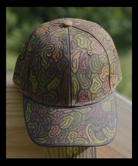 brown and green camo hat