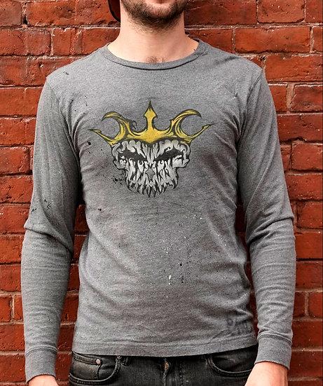 Skull King Gray long sleeve T-Shirt Small