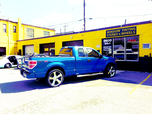 Blue Ford F-150 STX at Car Toys Maryland