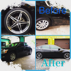 Before and After Car Rims