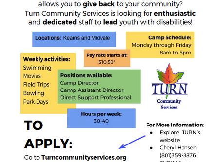 Need a summer job?  Salt Lake Summer Camp 2017 is hiring!
