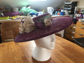 Purple sinamay picture hat