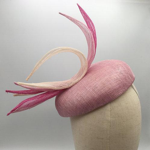 Candy Floss - Pink sinamay fascinator