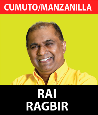 Dr. Rai Ragbir is 54 years of age. In the year 1990, he graduated as a Medical Doctor from the University of the West Indies and completed his post graduate studies in Family Medicine in the UK.  He returned to Trinidad in the year 1997 and began working at the then North Central Regional Health Authority as a Primary Care Manager for 8 years, managing over (20) twenty health centres and also commissioned the Couva District Health Facility. Dr.Ragbir was also trained in Mass Casualty Management by PAHO. In addition, he served as EMA director and Post Chairman of the Board of CISL (Community Improvement Services Limited).  Additionally, he also served as Deputy Political Leader for the UNC and is also pursuing his Diploma in law from the University of London.  His goal is to continue helping people, not only in the medical field but in any possible way he is able to facilitate. Consequently, he renders his services in free medical clinics across the country.