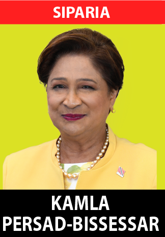 An attorney-at-Law, served as the Seventh Prime Minister of the Republic of Trinidad and Tobago for the period May 24, 2010 through September 7, 2015. She is currently in her twenty-fifth year of consecutive service as the Member of Parliament (MP) for the Constituency of Siparia in the Republic of Trinidad and Tobago. Mrs. Persad-Bissessar is currently the Political Leader of the United National Congress (UNC) political party and the Leader of the Opposition. She was the first woman to serve as Attorney General, Minister of Legal Affairs, Prime Minister, and Leader of the Opposition in Trinidad and Tobago as well as being the first woman to serve as Chair-in-Office of the Commonwealth. She was elected Political Leader of the UNC in January 2010 and was re-elected in December 2015. Many members of the general public and her close associates affectionately refer to her as Aunty Kamla.  Personal Life and Education Mrs. Persad-Bissessar, the great granddaughter of an indentured labourer, was born on April 22, 1952, in Siparia, a rural village in Trinidad, at a time when the country was still under the control of the British Crown. Her father was of Brahmin Hindu origin and she grew up together with her family following the traditions of this religion. As a child her entire family was baptized in the Shouter Baptist faith and so she also grew up in the traditions of this religion. Whilst growing up, she was an avid reader which she remains to date. Her hard-working, dedicated parents made education the central focus of their children's upbringing. One of Mrs. Persad-Bissessar's most well- known mantras is education is the only passport out of poverty.  Mrs. Persad-Bissessar began her education at the Mohess Road Hindu School followed by the Erin Road Presbyterian School and the Siparia Union Presbyterian School. Her secondary education took place at the first and only Presbyterian co-ed institution at the time in Trinidad, Iere High School in Siparia.  She then broke tr
