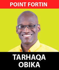 Senator Taharqa Obika was born in Point Fortin in Self Help on School Road in 1983.  Parents His parents were NJAC representatives in Point Fortin and engaged in educational and cultural activities. His parents conducted the Butler Institute of Learning and Labour inviting university lecturers to Point Fortin to train, certify and educate residents.  Taharqa fondly recalls his mother Dela Obika conducting literacy classes in Egypt Government Primary and Point Fortin RC School.  His father provided many families with African names for their children and even conducted the naming ceremonies. His father Nyahuma Obika contested the Point Fortin seat in 2010 for NJAC under the people's partnership and subsequently was appointed Trinidad and Tobago High Commissioner to Nigeria.  Early Days Taharqa Obika attended Miss Yuille's Private School and Point Fortin ASJA Muslim Primary School. During his Primary school years the Obika family moved to Harriman Park.  In 1994 Taharqa passed Common Entrance 11-plus exam for his first choice Presentation College San Fernando. From 1996 to 2001 Taharqa attended Presentation College from Marabella a closer location to school. In 2001 he graduated from Presentation College after completing the A-Level examinations in Economics, Management of Business and Geography.  First Jobs 2001 Taharqa Obika moved to Port of Spain to take up his first job at the Cooperative Credit Union League of Trinidad and Tobago an umbrella body for Credit Unions.  In 2002 Obika took up a teaching post in Elizabeth's College in Tobago where he taught Math and Economics.  University Education From 2003 to 2006 Taharqa Obika attended the University of the West Indies where he attained a Bachelor of Science Degree in Ecomomics. He also served as the university futsal team goalkeeper, President of the UWI African Society and served on the Student Senate of the UWI St Augustine Campus.  The Economist In 2006 Taharqa Obika served as an Economist in the Ministry of Trad