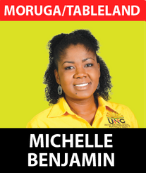 Michelle Benjamin is the current local government representative for Hindustan / St. Mary's, serving her second term as Councillor.  She was raised and educated in this community, having attended the Cowen Hamilton Secondary and Southern Community College. She went on to obtain a Diploma in Computer Studies from the School of Accounting and Management, and a Bachelor of Science Degree in Environmental and Natural Resource Management and Biology from the University of the West Indies.  She is family-oriented and an active member of the Baptist Community. Michelle is affiliated with a number of non-government organisations and youth groups.  She has been involved with the UNC for a number of years, and has served as Chairwoman of the Moruga/Tableland Constituency Executive since 2017.  After graduating from University, she immediately started working to improve the lives of others, supporting residents through difficult periods and contributing to local events.  As a Councillor, she is passionate about providing a better future for her local community. Michelle has added value to the quality of life of the burgesses and improved her community. Vibrant, educated and motivated, Michelle plans to work to implement positive changes that will rejuvenate the lives of the people in her community.  Ms. Benjamin intends to represent every segment of the electoral district with accountability, integrity, fairness and without fear or favour.  Performance is key to her and she intends to make strides in the journey of the development of her beloved hometown.