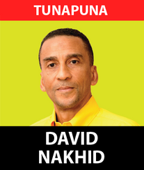 Mr David Martin Nakhid, a name familiar to everyone in Trinidad and Tobago has always been a man proud of his roots in Trinidad and Tobago. In his rise to International Football stardom, David remained true to the people of this great nation.  Being born in Port of Spain in 1964, David being a talented and gifted footballer attended the American University where he obtained a BA in International Relations. Afterwards he went on to place T&T on the International map by starring as a professional footballer across the world. After David Nakhid played as a professional in Belgium, Switzerland, Greece, Lebanon, Trinidad and Tobago, the United States, Sweden, and the United Arab Emirates where he excelled as a son of T&T.  A humble family man, David is a father of three and has always yearned to contribute in another meaningful way to the development of his homeland. Being blessed with the opportunities that came with being an international footballer he has obtained a vast amount of skills throughout his career from being a FIFA presidential candidate to debating in Europe against the likes of FIFA General Secretary Jerome Champagne.  Wanting the children of Trinidad and Tobago to grow up in a safe nation filled with opportunities, Nakhid has decided to enter politics as the representative for Tunapuna. He was drawn to Tunapuna because of the immense potential of the young people as well as the wealth of experience among the elders. He sees his role as working to bring the community together and using his international experience to transform the constituency. He has always held true to the belief that the nation has the best chance of moving forward under the UNC and with Kamla Persad Bissessar's leadership style of inclusion, he has been encouraged to serve.  As a father, David wants all children to have the best possible life in Trinidad and Tobago and he is confident that the UNC will provide that future.