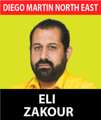 Mr. Eli Zakour has been part of the fabric of Diego Martin North-East for decades. His ties to the community are deep-rooted and far-reaching. His passion for this constituency is matched only by his love for country.  Having obtained his MBA from Anglia Ruskin University (UK), Eli has spent the past few years analyzing the woes that have affected the people of Diego Martin North-East, and the poor representation that has caused same.  Also a commercial pilot and successful businessman in his own right, Eli's unfettered determination to chart a better course for ALL the constituents of Diego Martin North-East is without compare.  And that is exactly why he is the RIGHT PERSON for Diego Martin North-East.  Now is the time for strength and resolve!  Now is the time for proper representation for the people of Diego Martin North-East for the first time in over 25 years!  Now is the time for Eli Zakour for Diego Martin North-East!