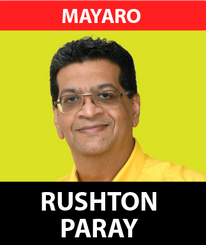 After five years of dedicated service to the people of Mayaro, Rushton Parray is returning to continue fighting to enhance the lives of its constituents.  As a true son of the soil of this dynamic community , Rushton Parray has fought and contributed to the development of the people of Mayaro for many years before he became an MP , having spent his entire life in Mayaro.  Having been a successful businessman for over 20 years within the constituency, he has been recognized throughout his career for being a visionary business leader in the area of telecommunications and technology.  Qualified with a Post Graduate Diploma in Business Management as well as a Master's in Business Administration with focus on Executive Leadership and Innovation from the Anglia Ruskin University, Rushton has used these skills to provide sound and effective representation to the people of Mayaro at the Parliamentary level in the last five years.  Having served on the Statutory Instruments Committee of the Parliament as well as the Joint Select Committees on Land and Physical Infrastruture , Human Rights and Equality as well as Cannabis Control, he has also contributed on 19 parliamentary bills and 11 motions.  Rushton has spent years sponsoring, advising as well as being part of numerous community development and sporting groups within the Mayaro Constituency which adds to his thrust to ensure the people of Mayaro are able to maximize their true talents.