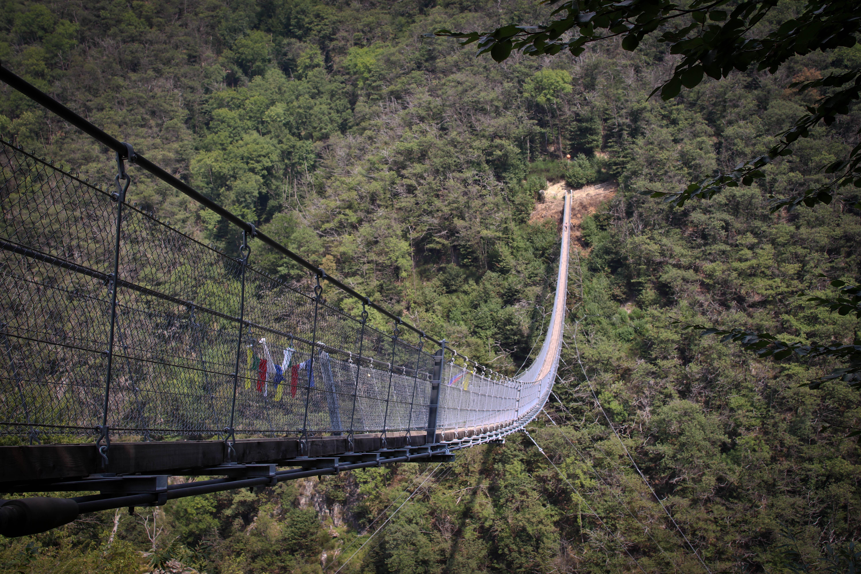 Wanderung zur Ponte Tibetano