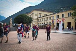 Ankunft in Bellinzona