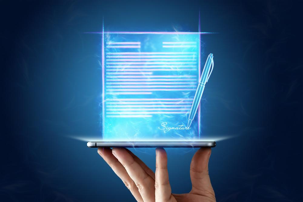 Assinatura Eletrônica, representação de uma assinatura digital