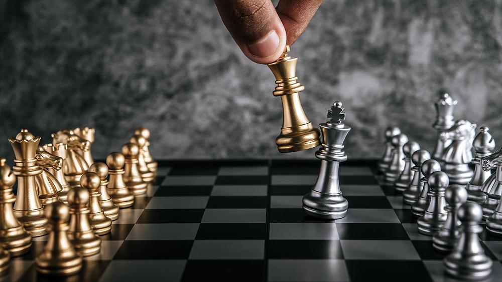 dicas de estética, imagem de uma jogada de xadrez