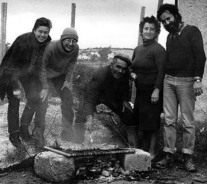 Anni 70: pausa di lavoro alla Castellana