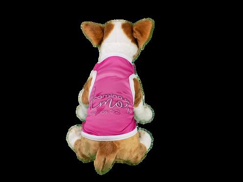 """Dog T-Shirt Dog Shirt with Inspirational Messages """"Camina en Amor"""""""