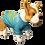 "Thumbnail: Dog T-Shirt Dog Shirt with Inspirational Msg  ""Mant?n la calma y cree en Jes?s"""