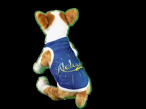 "Dog T-Shirt Dog Shirt with Inspirational Messages ""Aleluya"""
