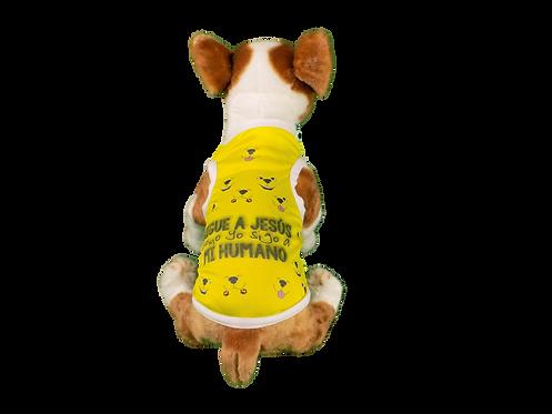 "Dog T-Shirt Dog Shirt with Inspirational Messages ""Sigue a Jesus"""