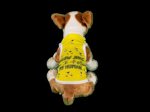 "Dog T-Shirt Dog Shirt with Inspirational Msg  ""Follow Jesus"""