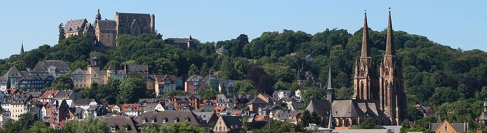 Elisabethkirche und Schloss in Marburg