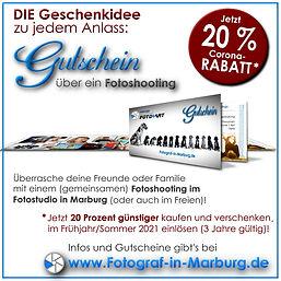 Gutschein für Fotoshooting in Marburg - 20 Prozent Rabatt