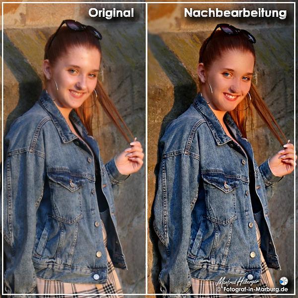 Original-Foto und Nachbearbeitung
