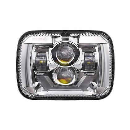 5''x 7'' PROJECTOR LED HEADLIGHT / CHROME (DRL & TURN LIGHT)