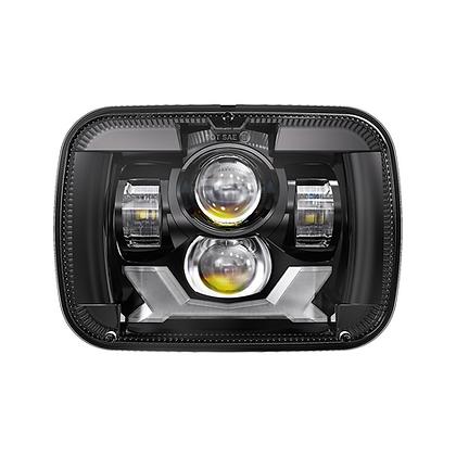 5''x 7'' PROJECTOR LED HEADLIGHT / BLACK (DRL & TURN LIGHT)