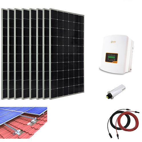 2480W Solar PV System Complete Set for Tiled Roof