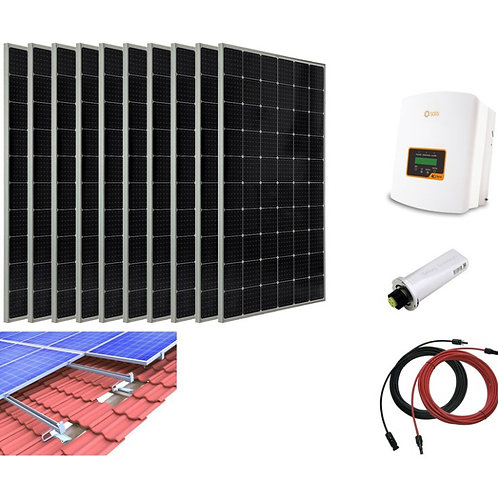 3100W Solar PV System Complete Set for Tiled Roof