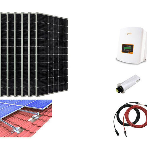 1860W Solar PV System Complete Set for Tiled Roof