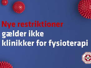 FYSIOTERAPIEN LUKKER IKKE NED