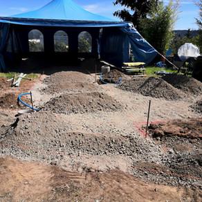 Umbau Gartensitzplatz und Gehwege