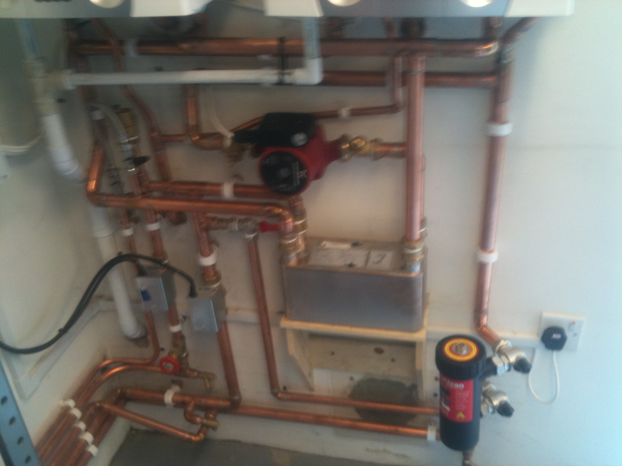 New boiler installation. Thetford