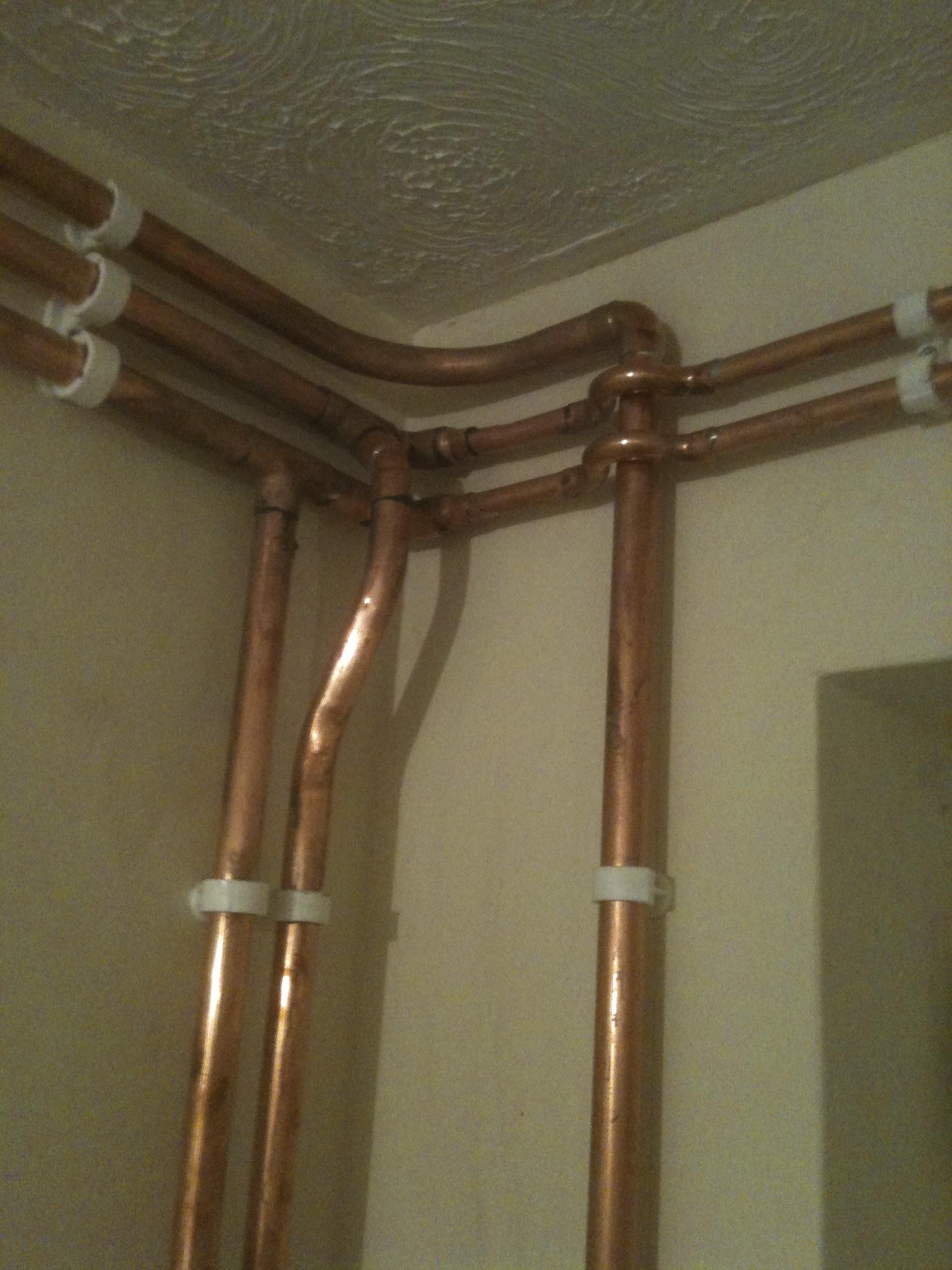 corner pipework