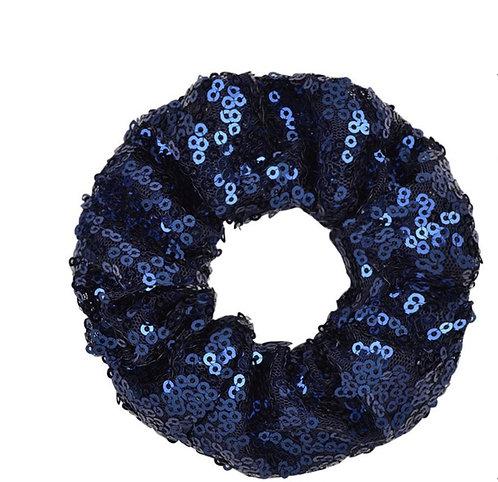 Navy Coloured Girls Sequin Scrunchie